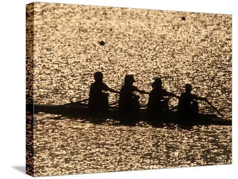 Silhouette of Women's Fours Rowing Team, Atlanta, Georgia, USA--Stretched Canvas Print