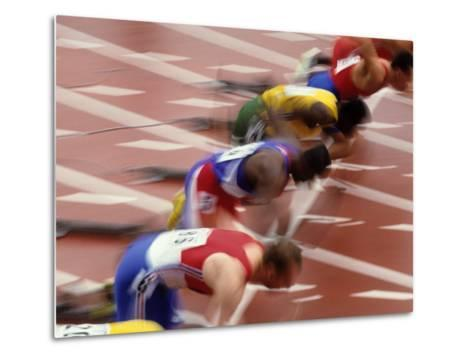Start of a Mens 100M Race-Paul Sutton-Metal Print