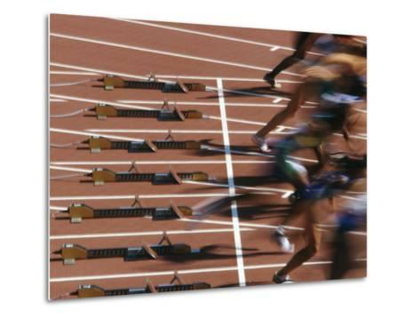 Detail of Start of Womens 100M Race-Steven Sutton-Metal Print
