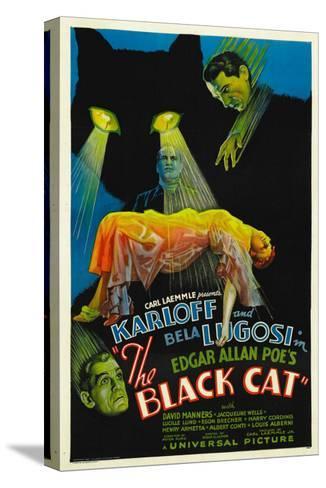 The Black Cat, Boris Karloff, Harry Cording, Jacqueline Wells, Bela Lugosi, 1934--Stretched Canvas Print