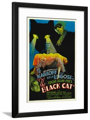 The Black Cat, Boris Karloff, Harry Cording, Jacqueline Wells, Bela Lugosi, 1934--Framed Art Print