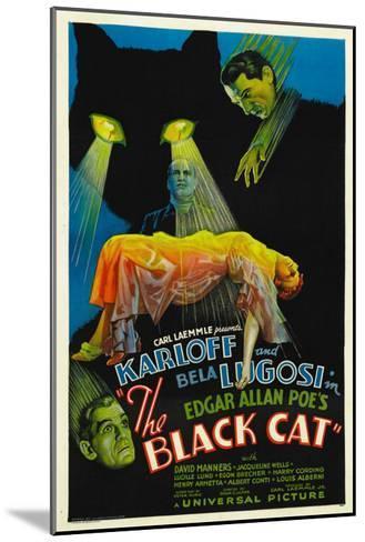 The Black Cat, Boris Karloff, Harry Cording, Jacqueline Wells, Bela Lugosi, 1934--Mounted Photo