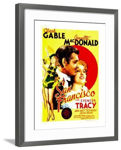 San Francisco, Jeanette Macdonald, Clark Gable, Jeanette Macdonald on Midget Window Card, 1936--Framed Art Print