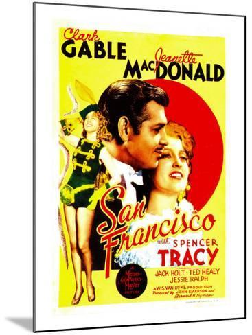 San Francisco, Jeanette Macdonald, Clark Gable, Jeanette Macdonald on Midget Window Card, 1936--Mounted Photo