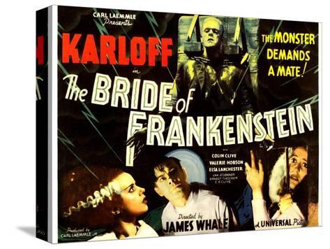 The Bride of Frankenstein, Boris Karloff, Elsa Lanchester, Colin Clive, Valerie Hobson, 1935--Stretched Canvas Print