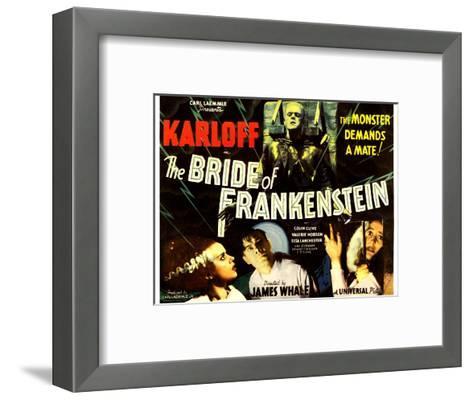 The Bride of Frankenstein, Boris Karloff, Elsa Lanchester, Colin Clive, Valerie Hobson, 1935--Framed Art Print