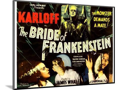 The Bride of Frankenstein, Boris Karloff, Elsa Lanchester, Colin Clive, Valerie Hobson, 1935--Mounted Photo