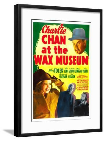 Charlie Chan at the Wax Museum, Sidney Toler, Joan Valerie, Marc Lawrence, 1940--Framed Art Print