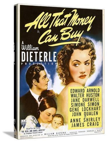 All That Money Can Buy (aka the Devil and Daniel Webster), James Craig, Anne Shirley, 1940--Stretched Canvas Print