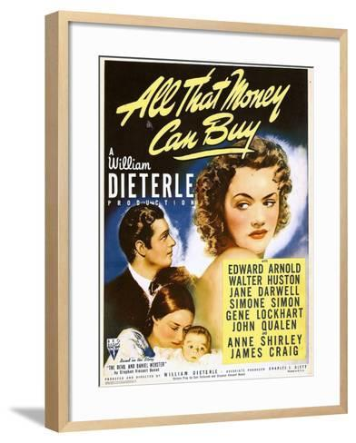 All That Money Can Buy (aka the Devil and Daniel Webster), James Craig, Anne Shirley, 1940--Framed Art Print