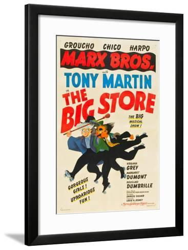 The Big Store, the Marx Brothers-From Left: Harpo Marx, Chico Marx, Groucho Marx, 1941--Framed Art Print