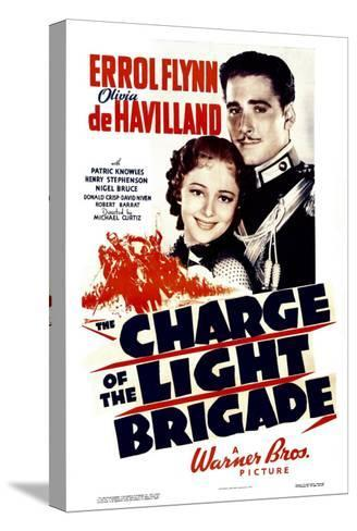 Charge of the Light Brigade, Olivia De Havilland, Errol Flynn, 1936--Stretched Canvas Print