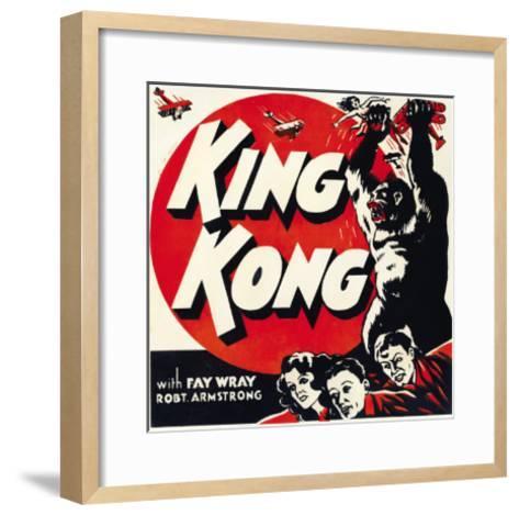 King Kong, Jumbo Window Card, 1933--Framed Art Print