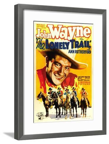 The Lonely Trail, John Wayne, 1936--Framed Art Print