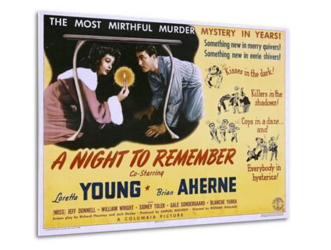 A Night to Remember, Loretta Young, Brian Aherne, 1942--Metal Print