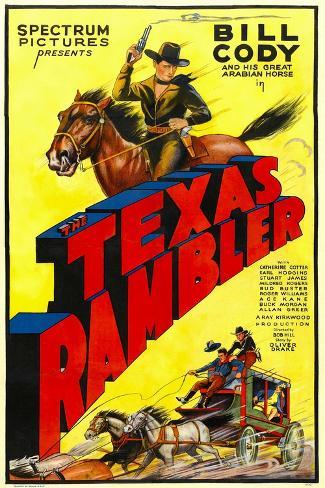 The Texas Rambler, Top Half: Bill Cody, 1935--Stretched Canvas Print