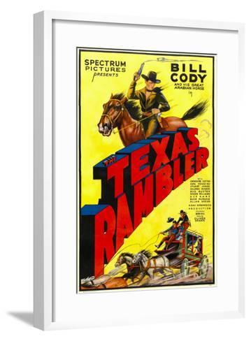 The Texas Rambler, Top Half: Bill Cody, 1935--Framed Art Print