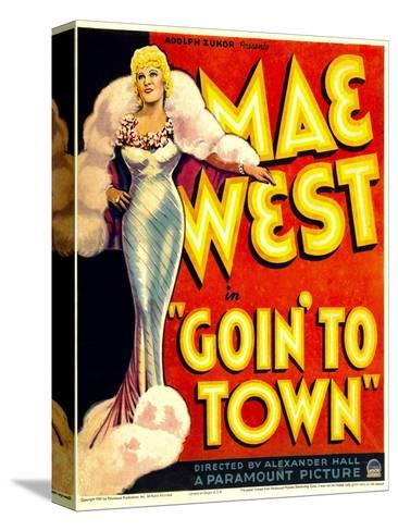 Goin' to Town, Mae West on Window Card, 1935--Stretched Canvas Print