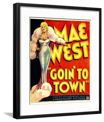 Goin' to Town, Mae West on Window Card, 1935--Framed Art Print