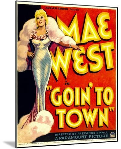Goin' to Town, Mae West on Window Card, 1935--Mounted Photo
