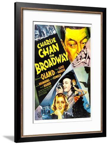 Charlie Chan on Broadway, Warner Oland, 1937--Framed Art Print