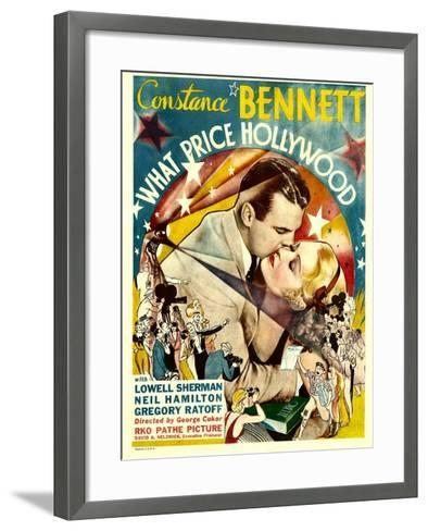 What Price Hollywood?, Neil Hamilton, Constance Bennett on Window Card, 1932--Framed Art Print