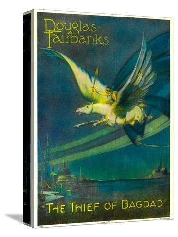 The Thief of Bagdad, Douglas Fairbanks on a Flying Horse, 1924--Stretched Canvas Print
