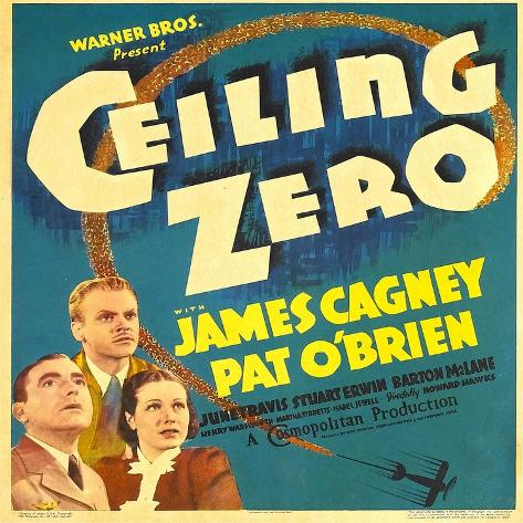 Ceiling Zero, Pat O'Brien, James Cagney, June Travis on Window Card, 1936--Stretched Canvas Print