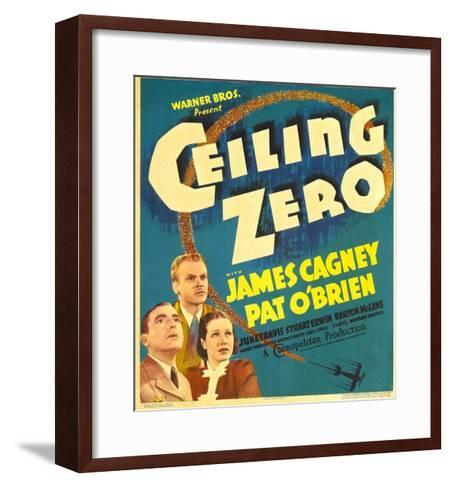 Ceiling Zero, Pat O'Brien, James Cagney, June Travis on Window Card, 1936--Framed Art Print