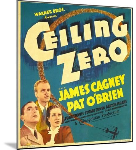 Ceiling Zero, Pat O'Brien, James Cagney, June Travis on Window Card, 1936--Mounted Photo