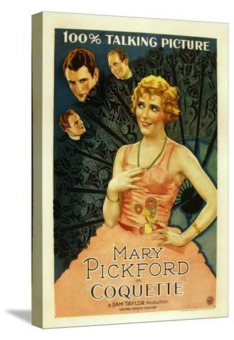 Coquette, Matt Moore, Johnny Mack Brown, Mary Pickford, 1929--Stretched Canvas Print