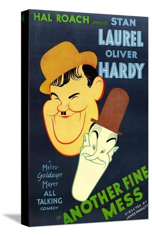 Another Fine Mess, Oliver Hardy, Stan Laurel, 1930--Stretched Canvas Print