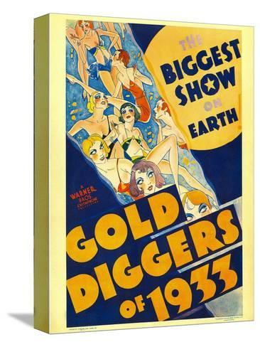Gold Diggers of 1933, Window Card, 1933--Stretched Canvas Print
