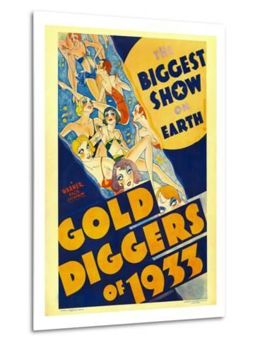Gold Diggers of 1933, Window Card, 1933--Metal Print