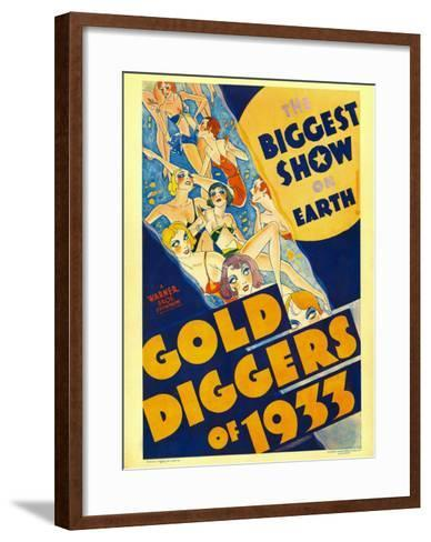 Gold Diggers of 1933, Window Card, 1933--Framed Art Print