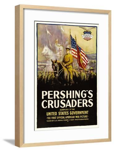 Pershing's Crusaders, 1918--Framed Art Print