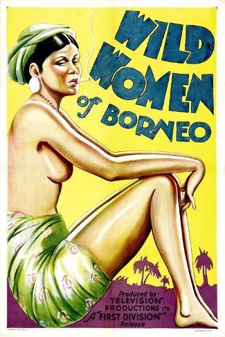 Wild Women of Borneo, 1931--Stretched Canvas Print