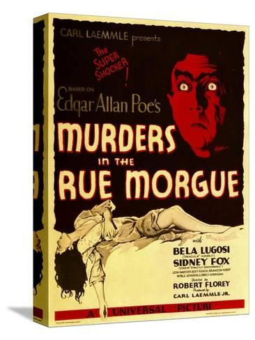 Murders in the Rue Morgue, Bela Lugosi on Window Card, 1932--Stretched Canvas Print