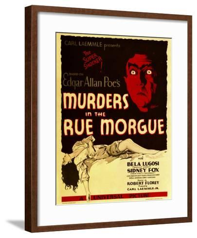 Murders in the Rue Morgue, Bela Lugosi on Window Card, 1932--Framed Art Print
