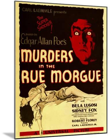 Murders in the Rue Morgue, Bela Lugosi on Window Card, 1932--Mounted Photo