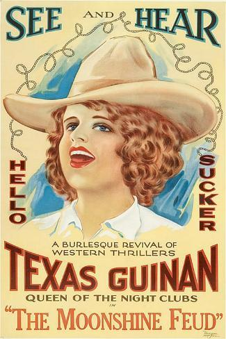 The Moonshine Feud, Texas Guinan, 1920--Stretched Canvas Print