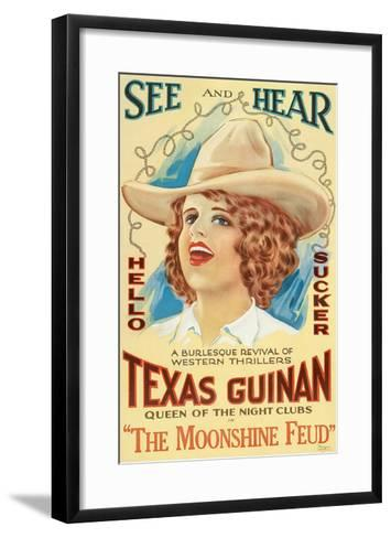 The Moonshine Feud, Texas Guinan, 1920--Framed Art Print