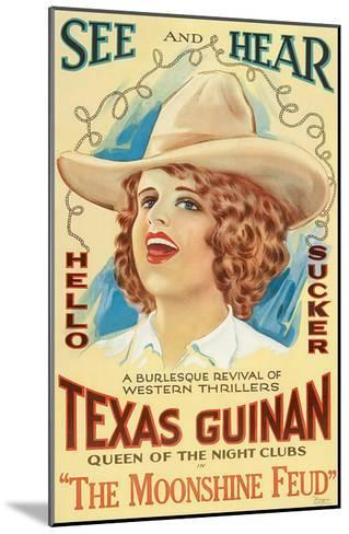 The Moonshine Feud, Texas Guinan, 1920--Mounted Photo