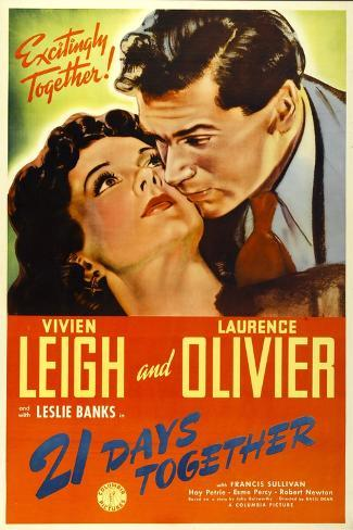 21 Days Together (Aka 21 Days), Vivien Leigh, Laurence Olivier, 1940--Stretched Canvas Print