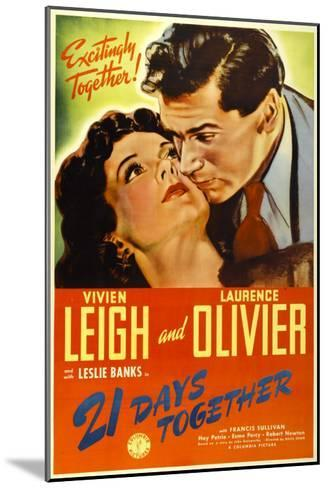 21 Days Together (Aka 21 Days), Vivien Leigh, Laurence Olivier, 1940--Mounted Photo
