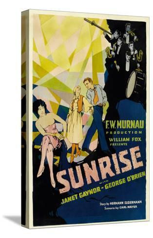 Sunrise, (Aka 'sunrise: a Song of Two Humans'); in Foreground, 1927--Stretched Canvas Print