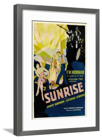 Sunrise, (Aka 'sunrise: a Song of Two Humans'); in Foreground, 1927--Framed Art Print