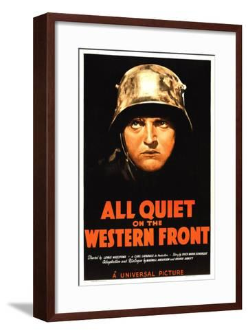 All Quiet on the Western Front, Lew Ayres, 1930--Framed Art Print