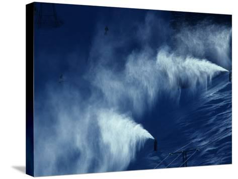 Snow Making Jets Working-Paul Sutton-Stretched Canvas Print