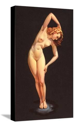 Nude Doing Calisthenics--Stretched Canvas Print